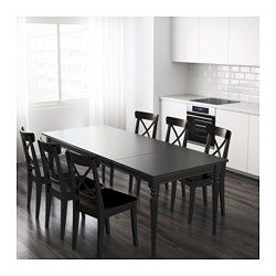 Mesa extensible INGATORP negro | Ikea | Mesas extensibles, Mesas de ...