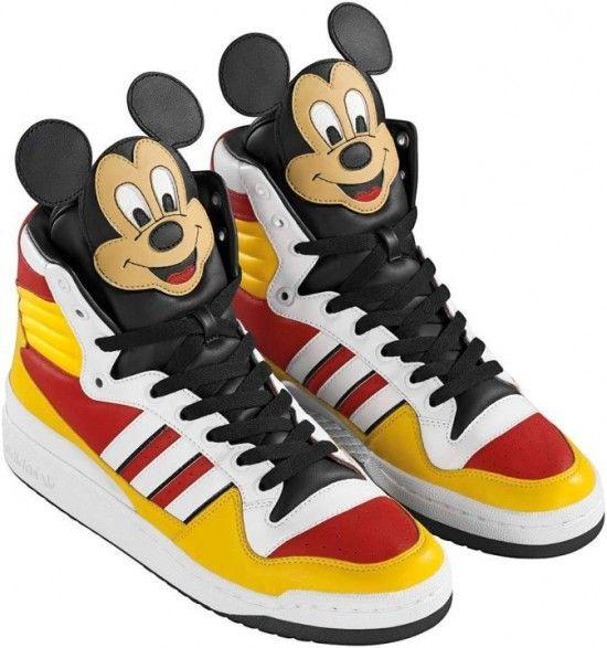 On sale Adidas Jeremy Scott Mickey Mouse Schuhe Herren Rot