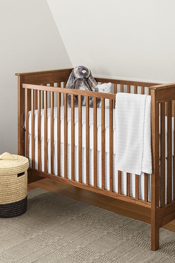 Nest Crib In Cherry Modern Cribs Modern Kids Furniture Room Board Modern Kids Furniture Cribs Nursery Crib