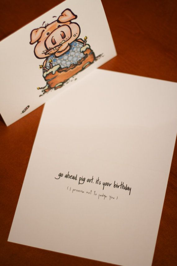 Odd Pig Birthday Card Birthdays Snail Mail And Card Stock