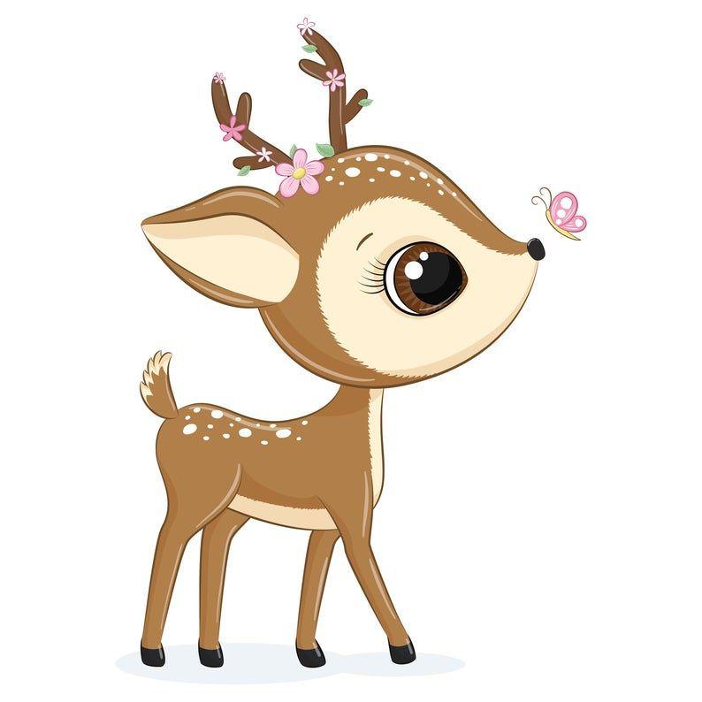 Mother And Baby Deer Clipart Png Eps Jpeg Baby Deer Clip Art Cute Animals In 2021 Baby Deer Art Baby Animal Drawings Baby Deer