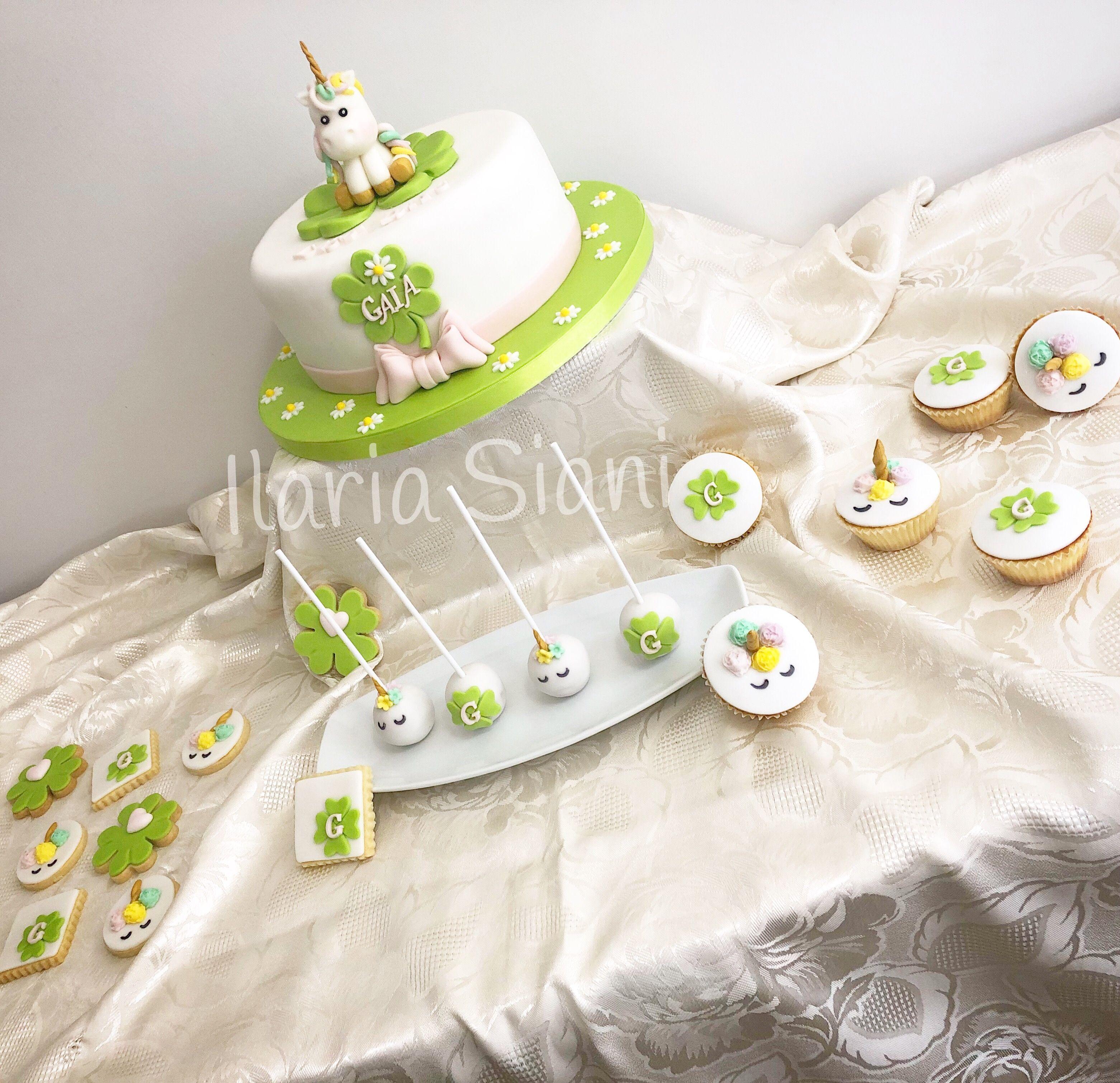 Matrimonio Tema Quadrifoglio : Sweet table a tema quadrifoglio e unicorno per una dolcissima