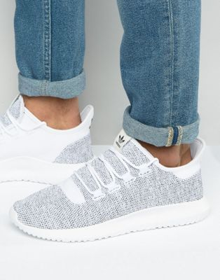 be0b0605 adidas Originals Tubular Shadow Knit Sneakers In White BB8941 | Cute ...