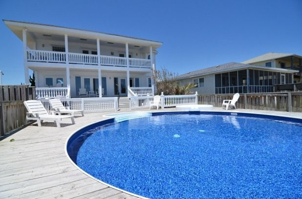 Vitamin Sea Oceanfront House With Pool North Carolina Vacation Als Come Visit One Of Kure Beach S Daily Essentials