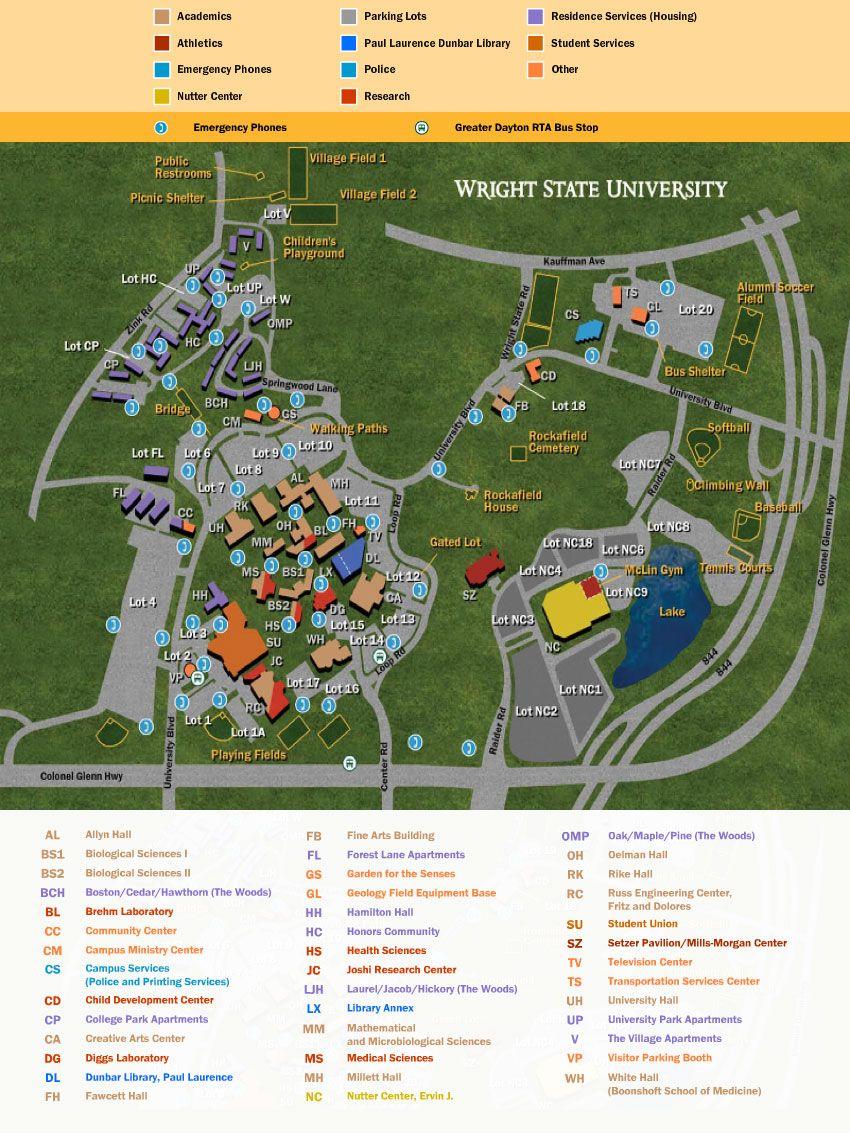 PDF Wright State University Campus Map