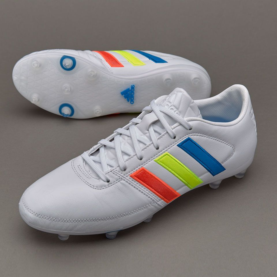 35fe5debbce4 adidas Gloro 16.1 FG - Mens Soccer Cleats - Firm Ground - White Solar  Yellow Shock Blue