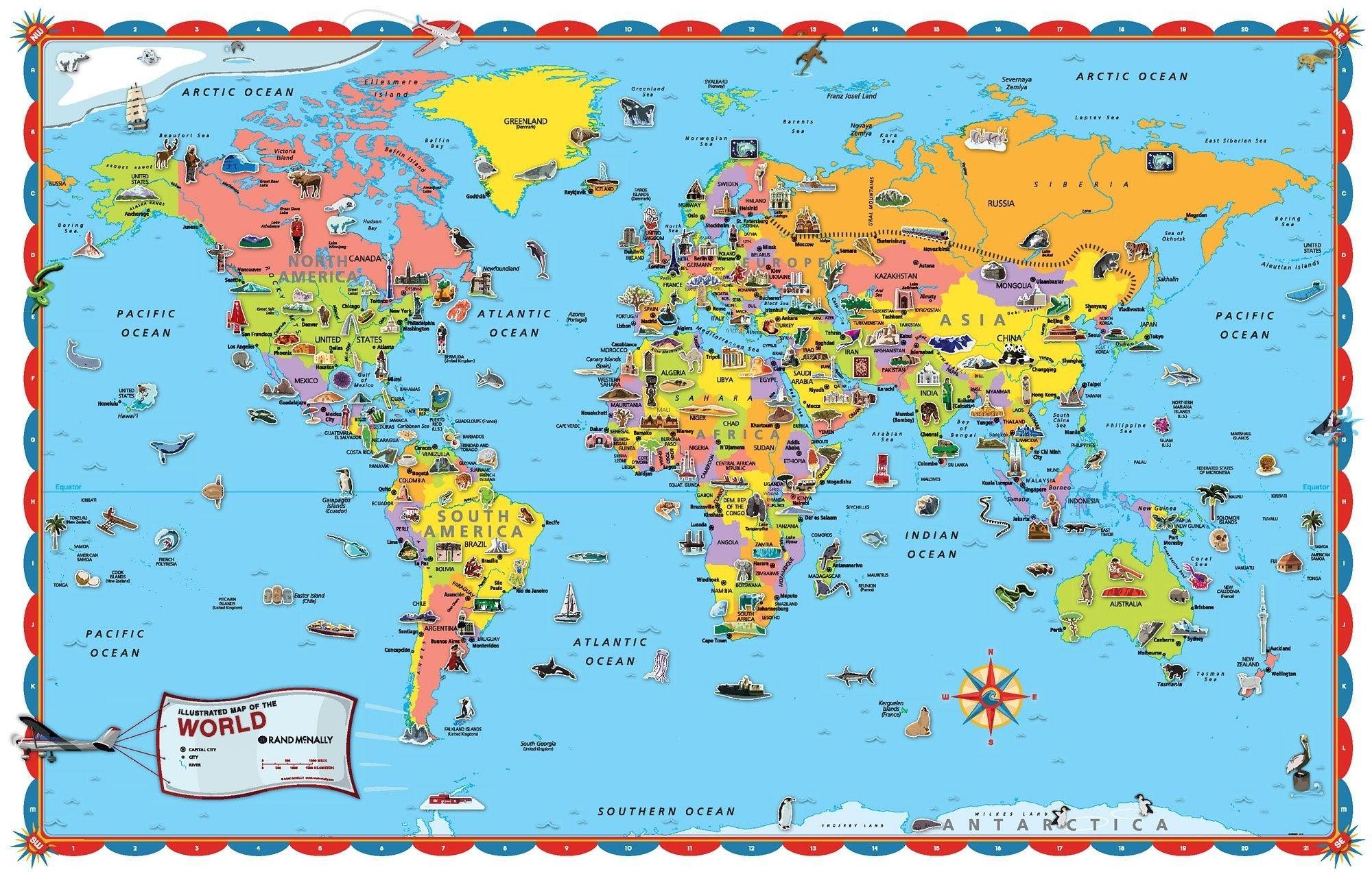 - Printable World Map For Kids Carte Du Monde, Carte, Australie