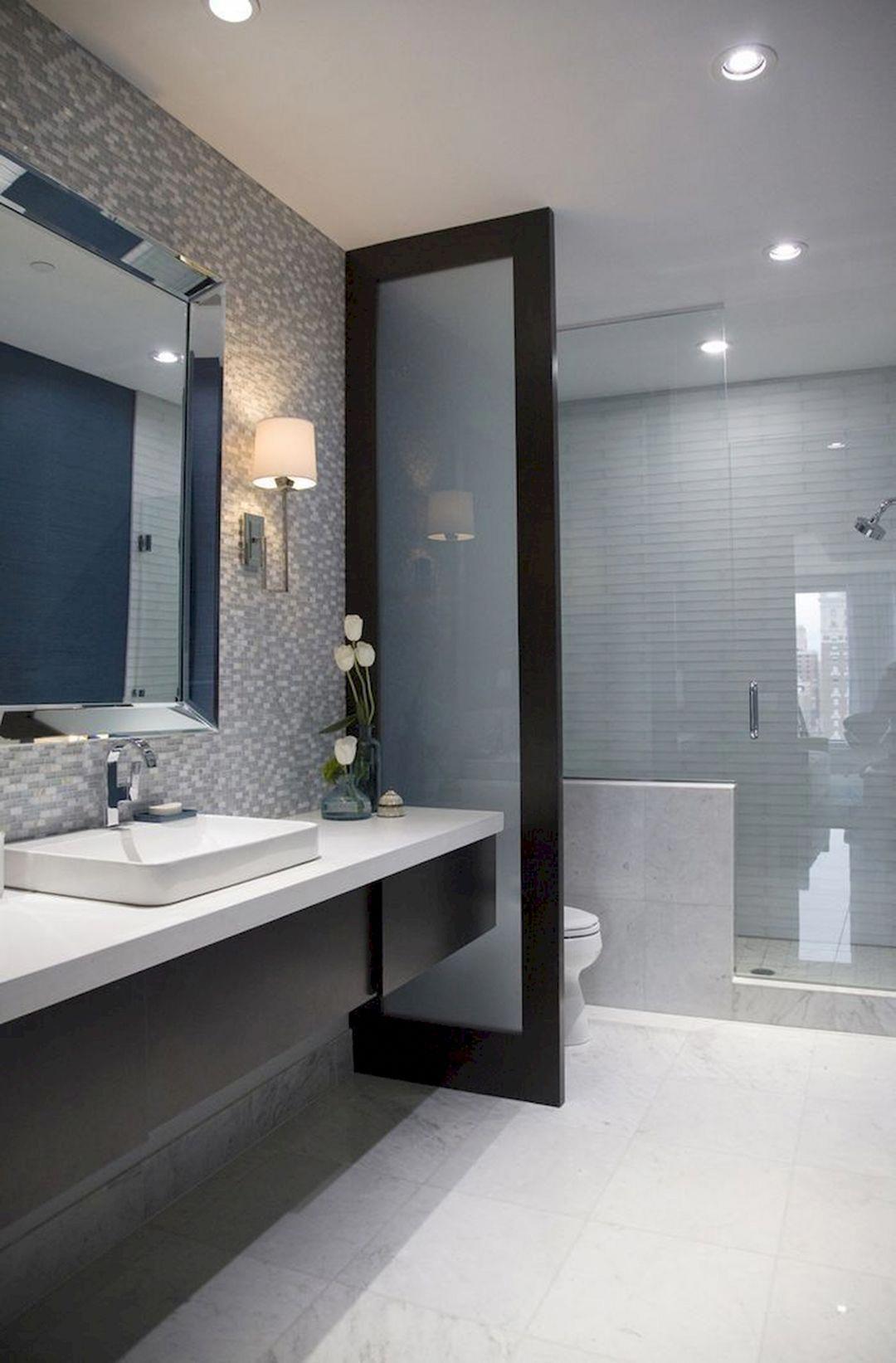 Gorgeous 43 Long Narrow Bathroom Design Ideas You Never Seen Before Narrow Bathroom Designs Bathroom Layout Modern Bathroom Design Viral home designer bathroom design