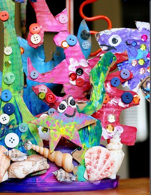 Arrecife de coral de cartón | Plástica | Pinterest | Plástica, Coral ...