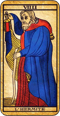 tarot carte du diable   Hermite - Carte de Tarot   nadaya   Tarot ... 24c18256712b