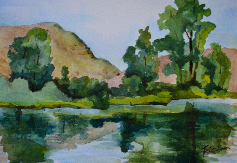 Fine Art Painting Watercolor Painting Original Colorado Painting