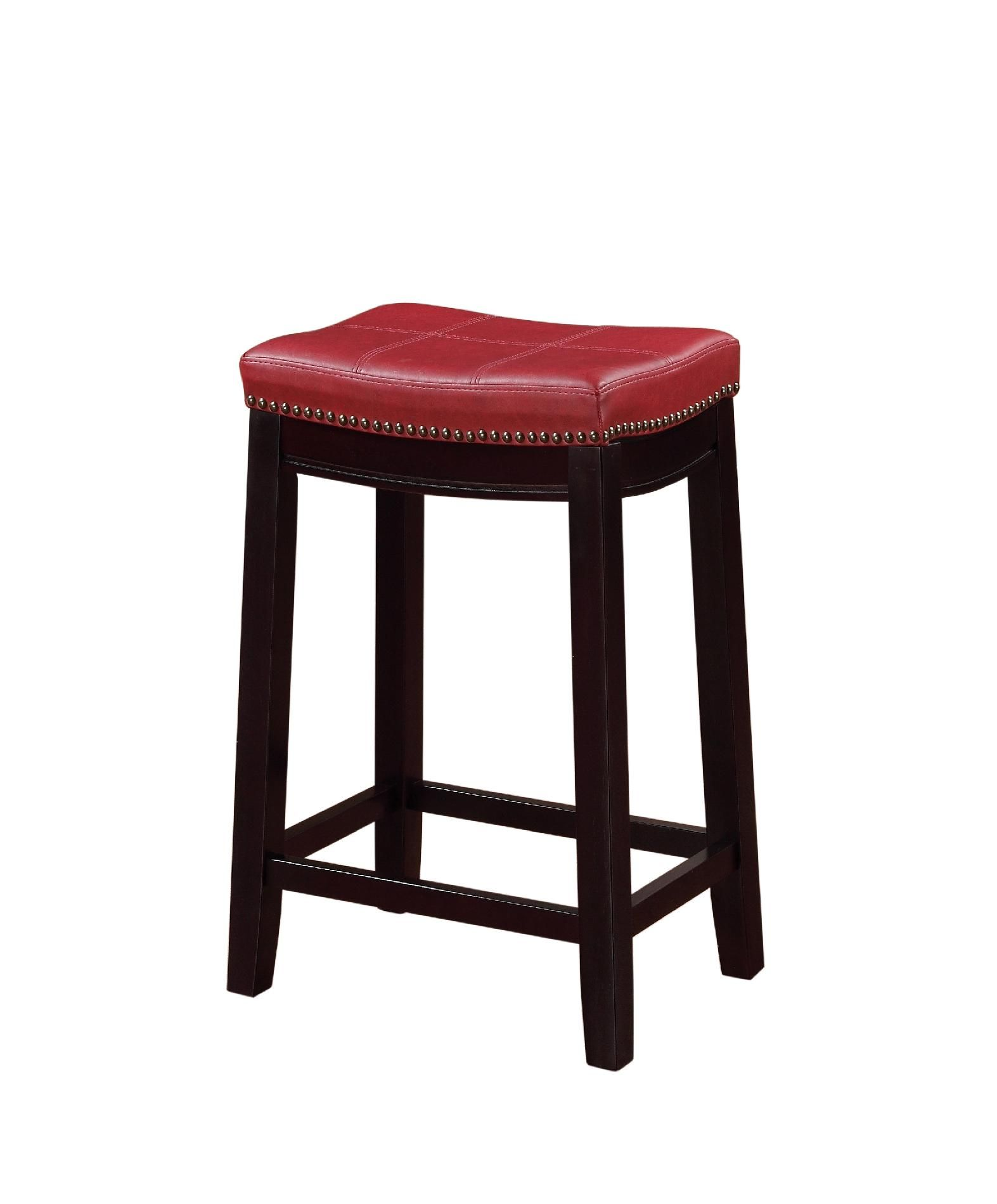 Pleasing Linon Claridge Red Counter Stool Brown Products Bar Andrewgaddart Wooden Chair Designs For Living Room Andrewgaddartcom