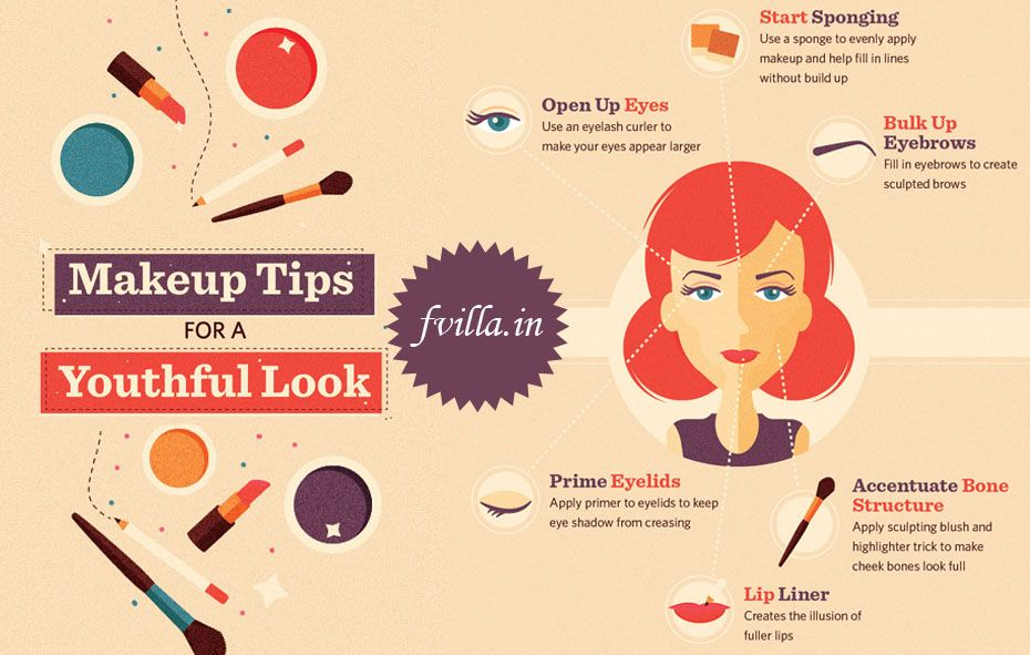 #Ladies chk out the Makeup Tips for a Youthful Look. Book your next salon appointment @ http://fvilla.in/