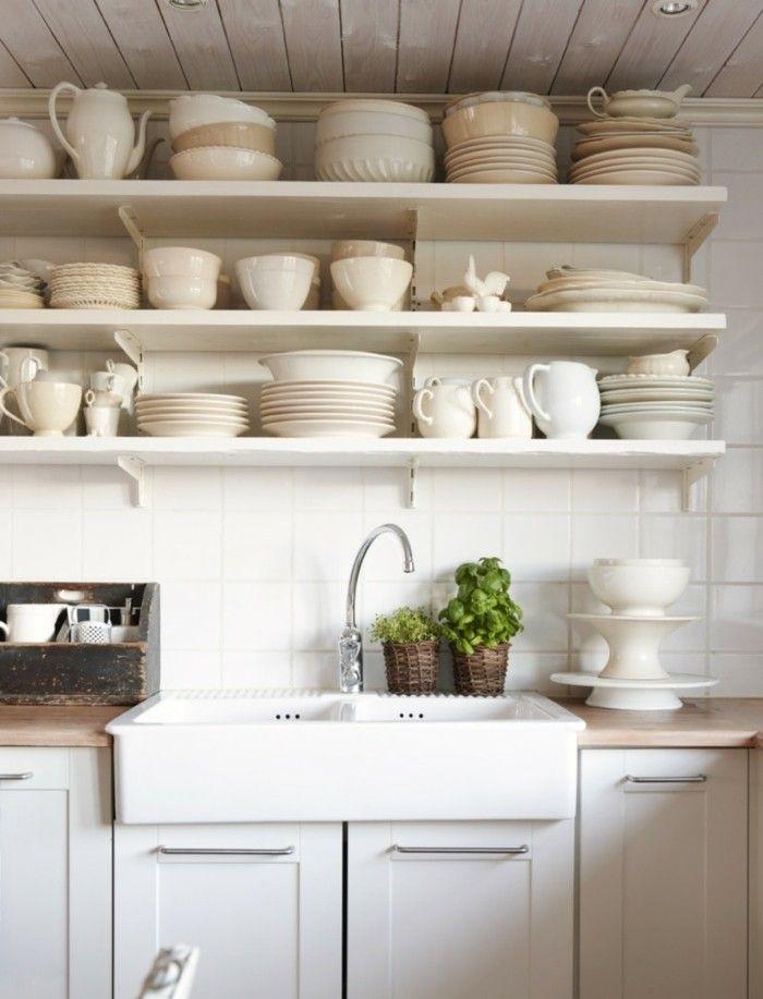 wohnideen kueche geschirr offene regale pflanzen Küche Möbel - möbel martin küchen
