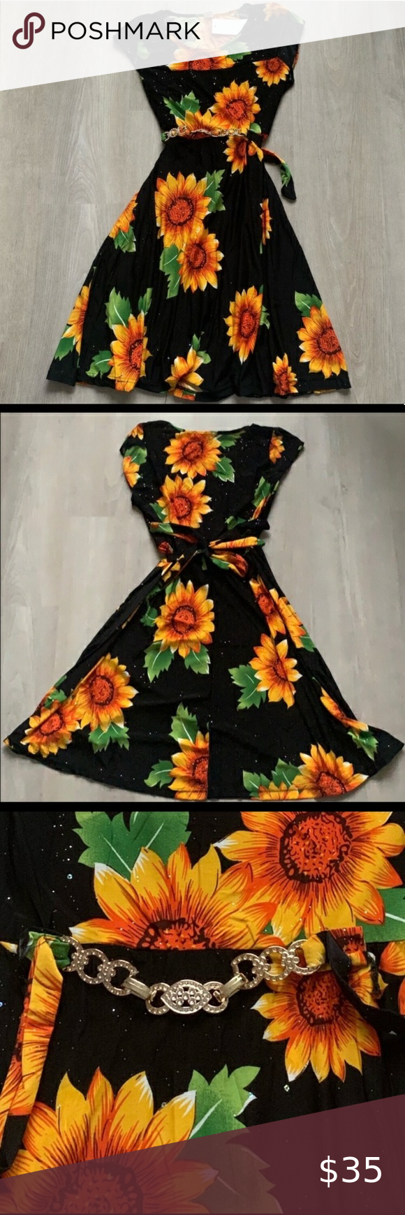 Sunflower Dress Beautiful Midi Sunflower Dress This Dress Is Lightweight Has Pretty Sparkles And A Real In 2020 Sunflower Dress Floral Boutique Dress Floral Midi Dress [ 1740 x 580 Pixel ]