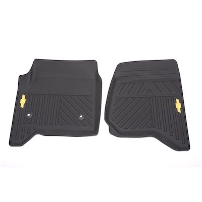 2016 Silverado 1500 Front Floor Mats Premium All Weather Black