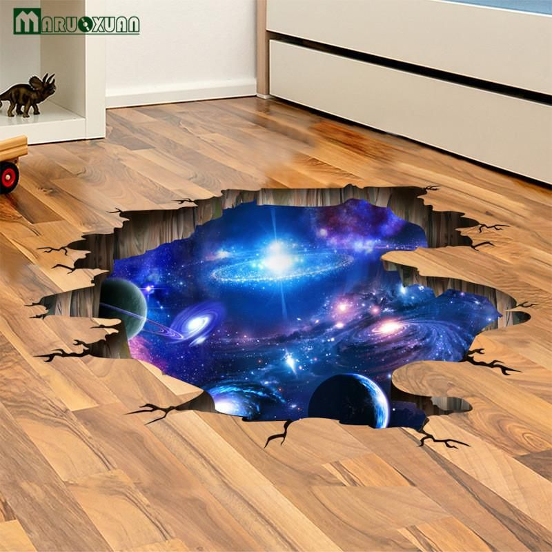 3d Optical Illusion Into Space Premium Wall Decal