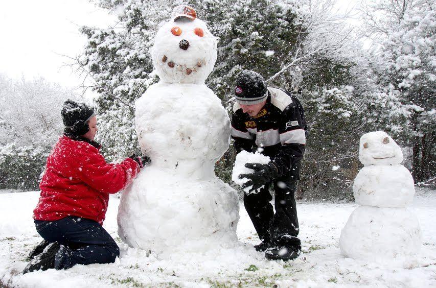 building snowmen! | Build a snowman, Snowman, Fun