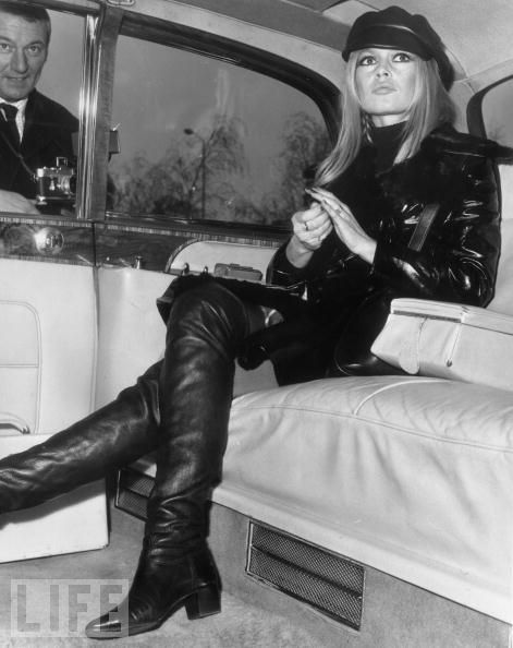 Bridget Bardot | leather | limousine | LIFE Magazine | actress | beauty | iconic | www.republicofyou.com.au