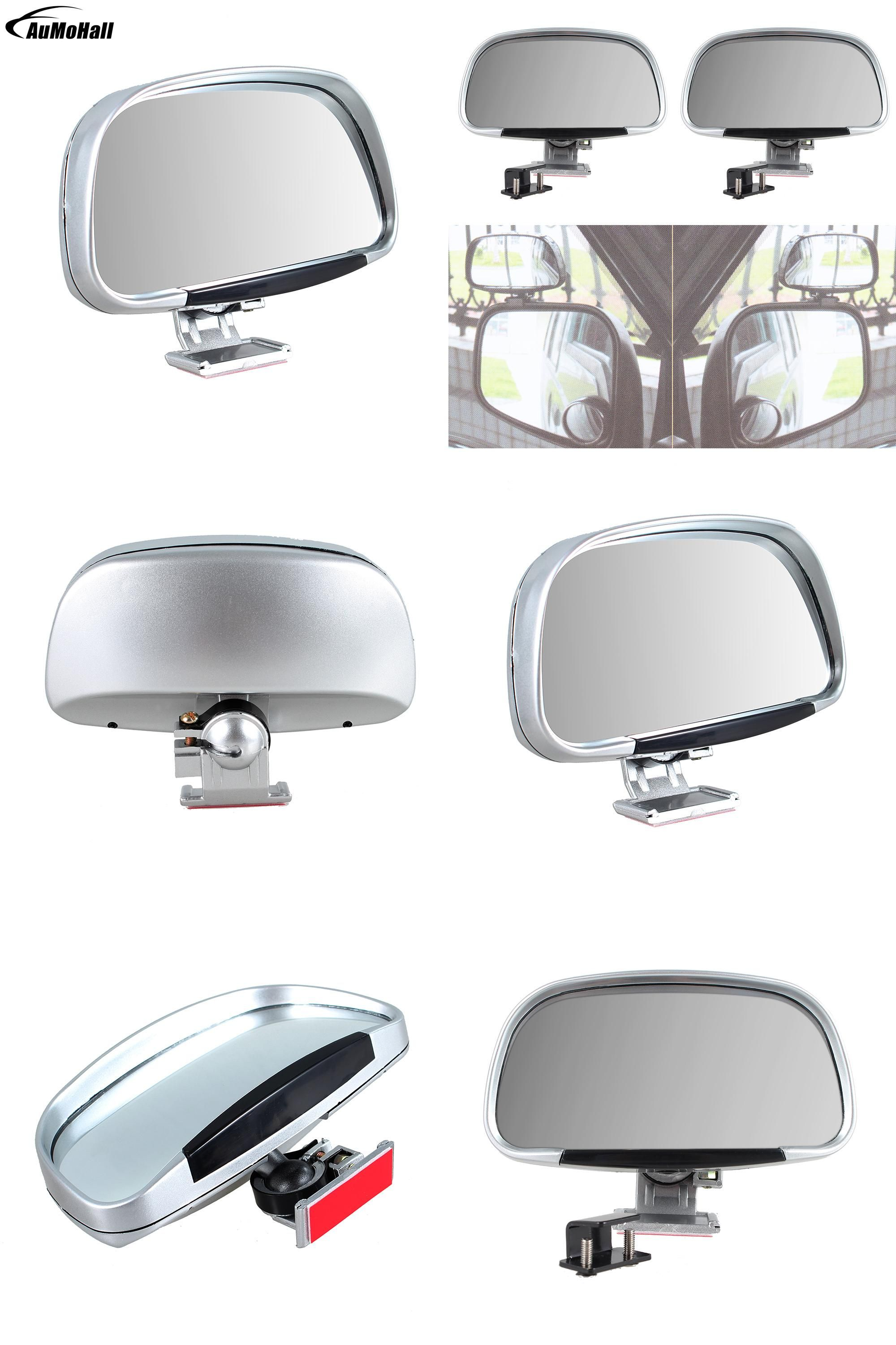 Visit to Buy] Silver Color Car Mirror Vehicle Blind Spot Mirror Car ...