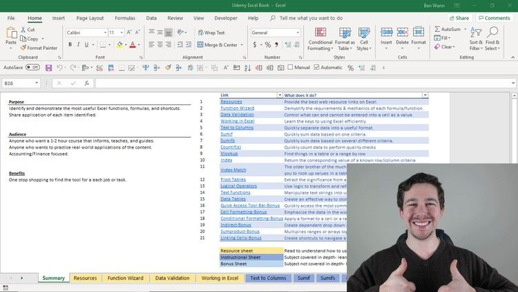 100 Off Udemy Coupon Microsoft Excel The Ultimate Workbook How To Resource Course Workbook Excel Tutorials Free Online Courses