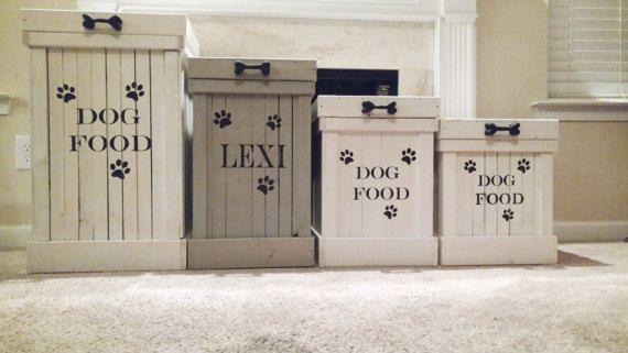 Wood Pet Food Container Pet Food Storage Dog Food Container Dog