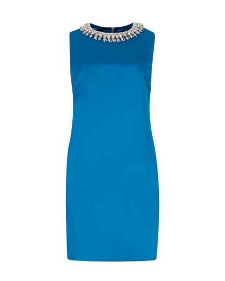 BEADED NECKLINE TUNIC - Blue   Dresses   Ted Baker
