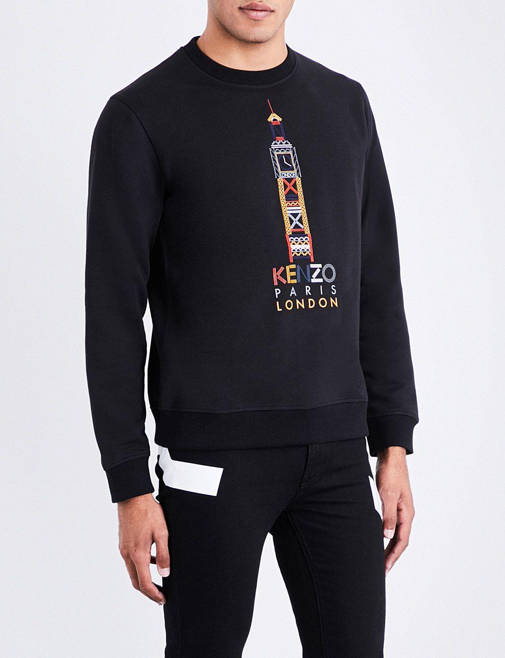 8325db273ad2 KENZO - Big Ben cotton-jersey sweatshirt | Selfridges.com | The Boy ...