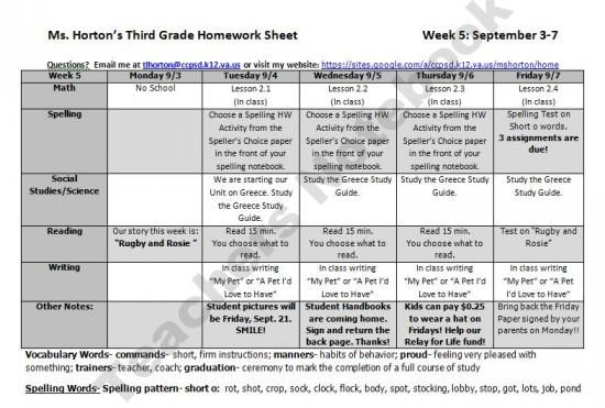 FREEBIE- Homework Sheet Product From Please-Feed-the-Animals On TeachersNotebook.com