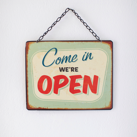 How Much Does It Cost You To Just Open Your Doors Each Day Ask The Bookkeeper Plaque Open Signs Hand Painted Signs