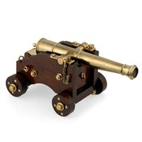 Wood & Brass Miniature Naval Cannon