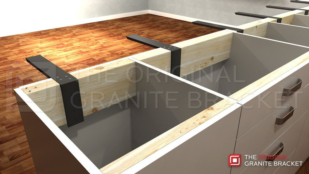 Your Countertop Can Float With Countertop Support Brackets By The Original  Granite Bracket.