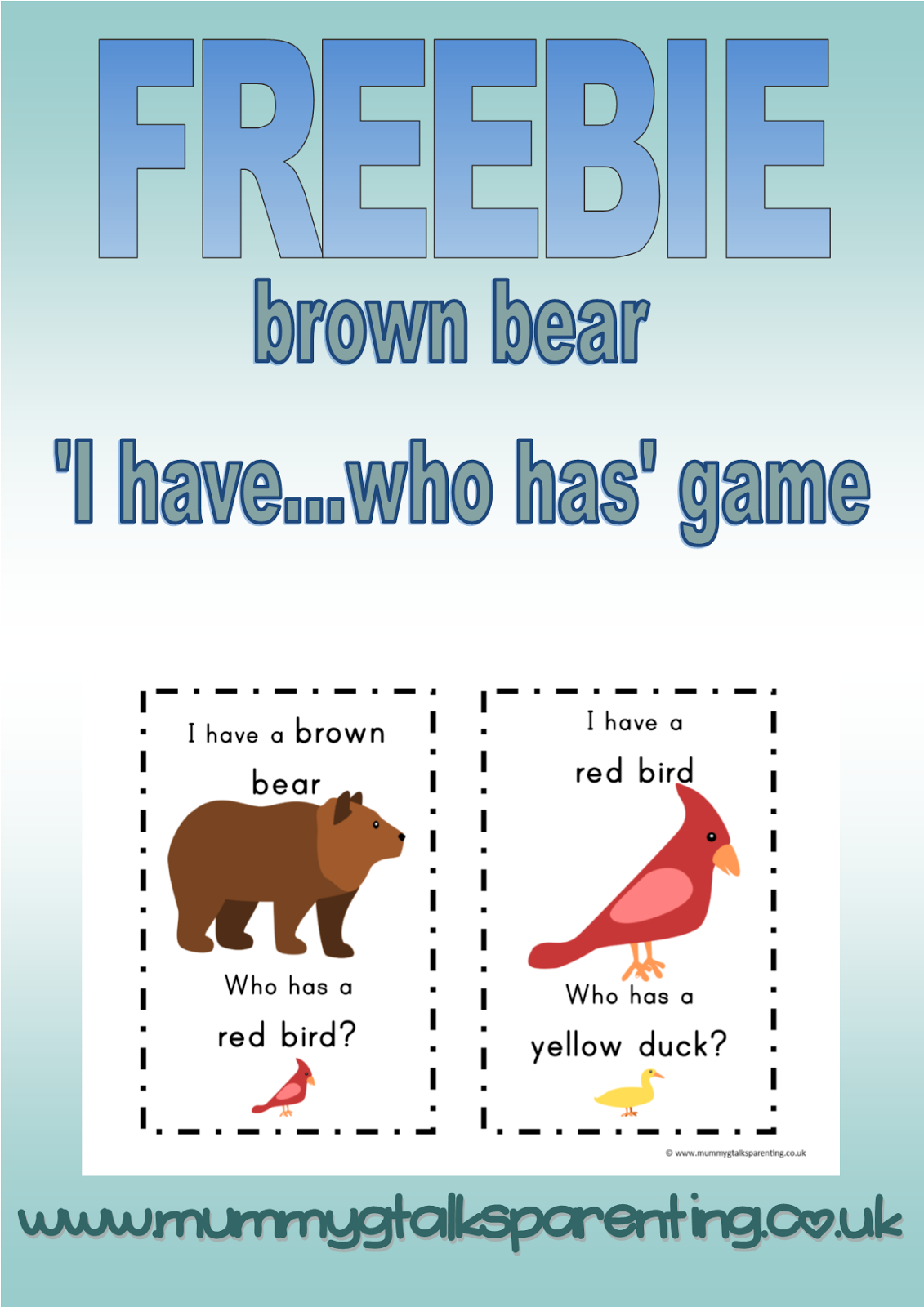 This Brown Bear Freebie Can Be Used In Conjunction With