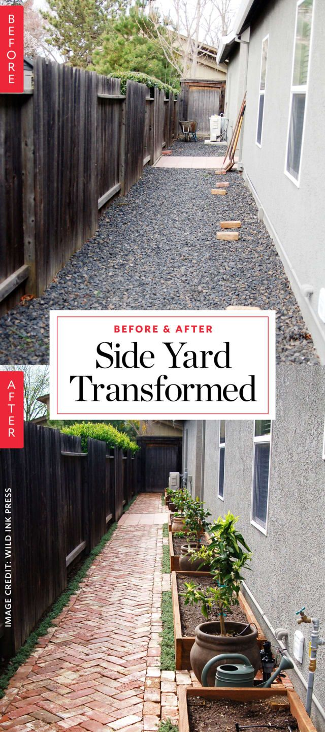 Before & After: A Side Yard Goes from Barren to Bountiful #sideyards