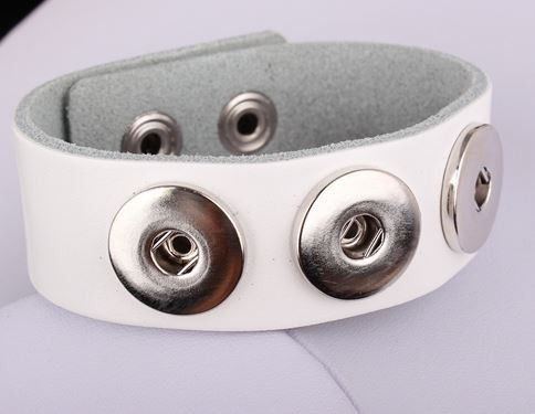 Leather Triple Snap Bracelet for 18-20mm Snaps