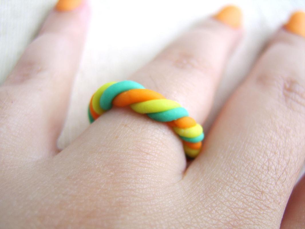 rings DIY Twisted Neon Bangle & Ring Diy rings
