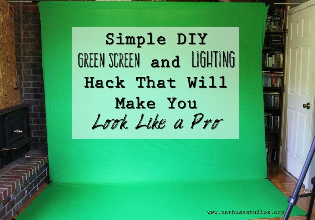 DIY Green Screen and Lighting Hack | Photo ideas | Green