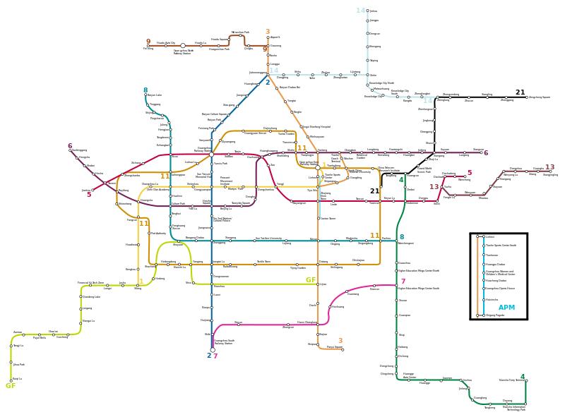 Guangzhou Metro Plan Map En Svg Places To Visit Travel Maps
