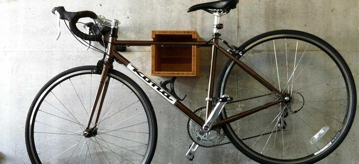 Custom Wall Mount Bike Box Storage For Bike And Lock By