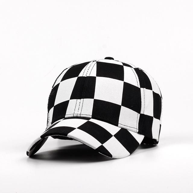 Fashion Adjustable Baseball Cap Men Women Hat Cotton Black And white Color  Printing Dyeing Summer Hat edf44166160b