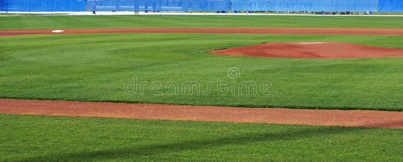 Panorama Of The Infield Panoramic View Of A Baseball Diamond Showing The Pitch Ad View Baseball Panoramic Panorama Stock Images Free Stock Images
