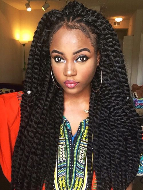 Blackhaiirstyles Nigerian Hersillhouette Tumblr Com Jumbo Twists