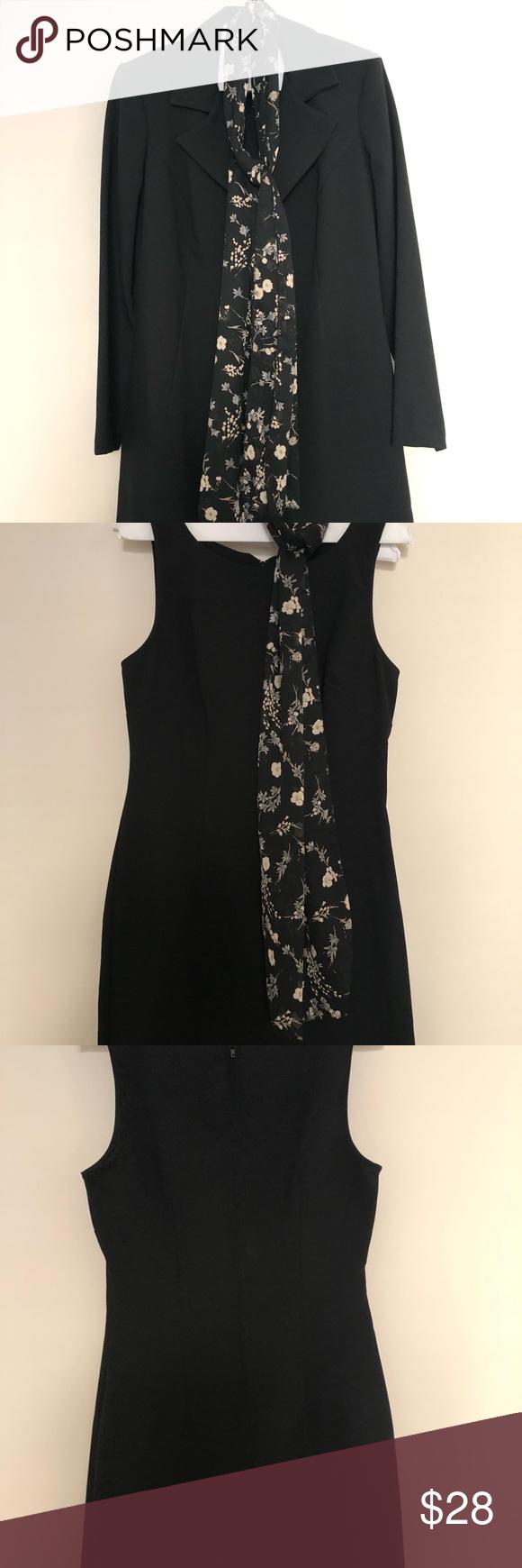 Dress Jacket With Scarf Jazz Dress Dresses Jacket Dress [ 1740 x 580 Pixel ]