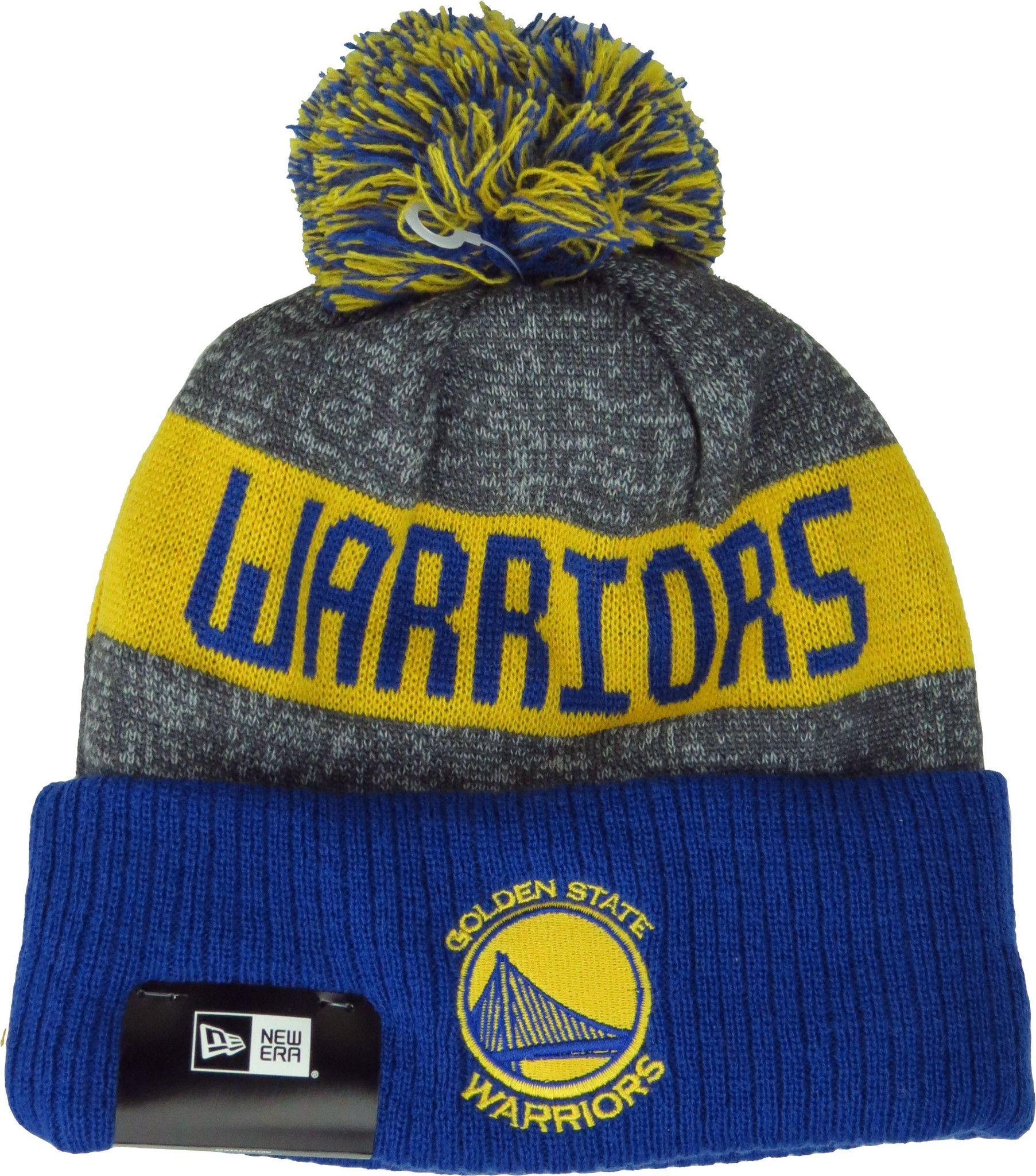 b044c1e9076 Golden State Warriors New Era NBA Team Knit Bobble Hat - pumpheadgear