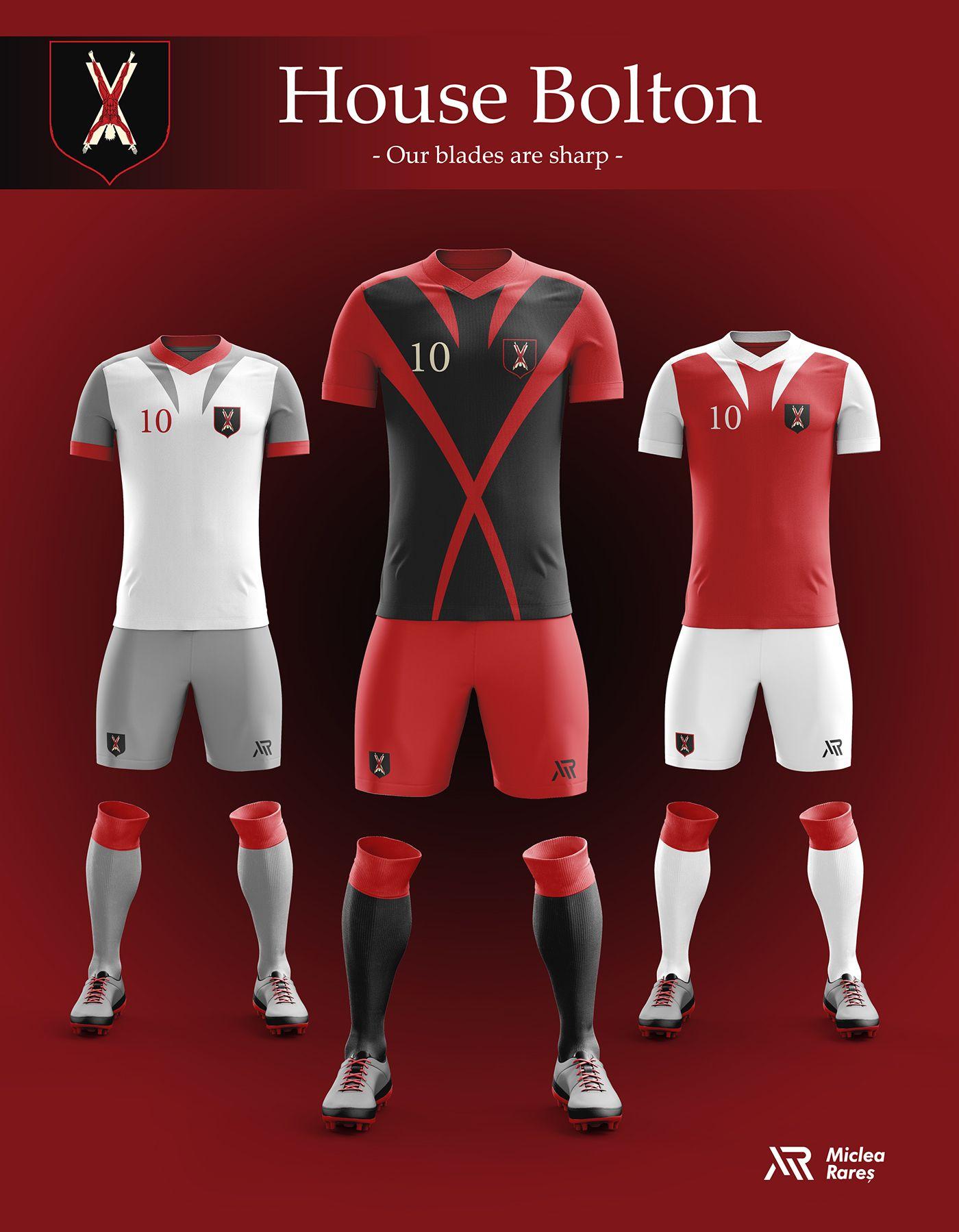 Concept Game Of Thrones Football Kits On Behance Camisetas De