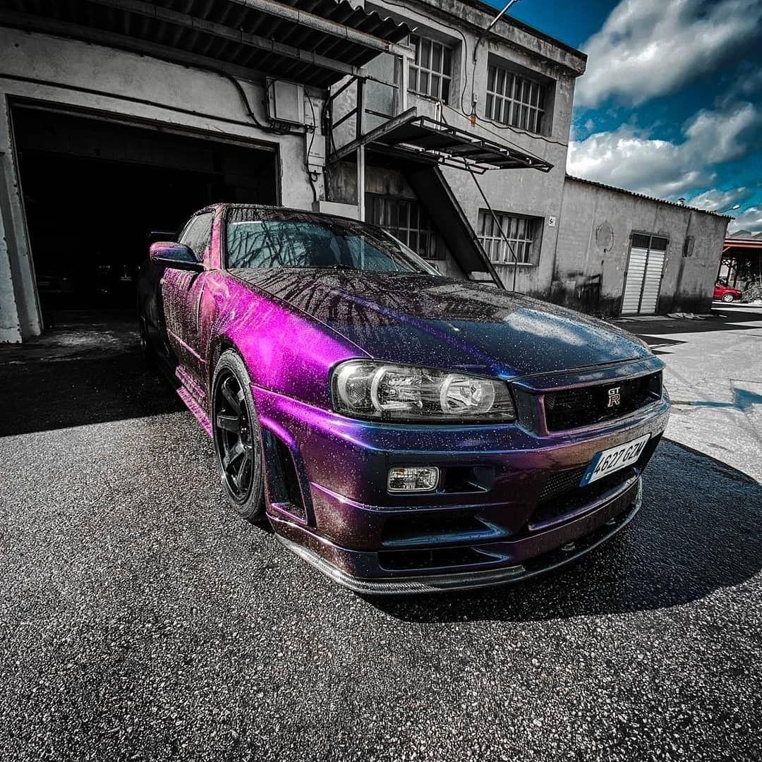 Midnight Purple R34 Gtr Skyline In 2021 Nissan Skyline Skyline Gtr Nissan Gtr Skyline