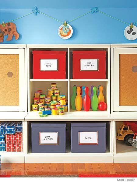 Cuarto de juegos para ni os organizado y divertido - Organizar habitacion ninos ...