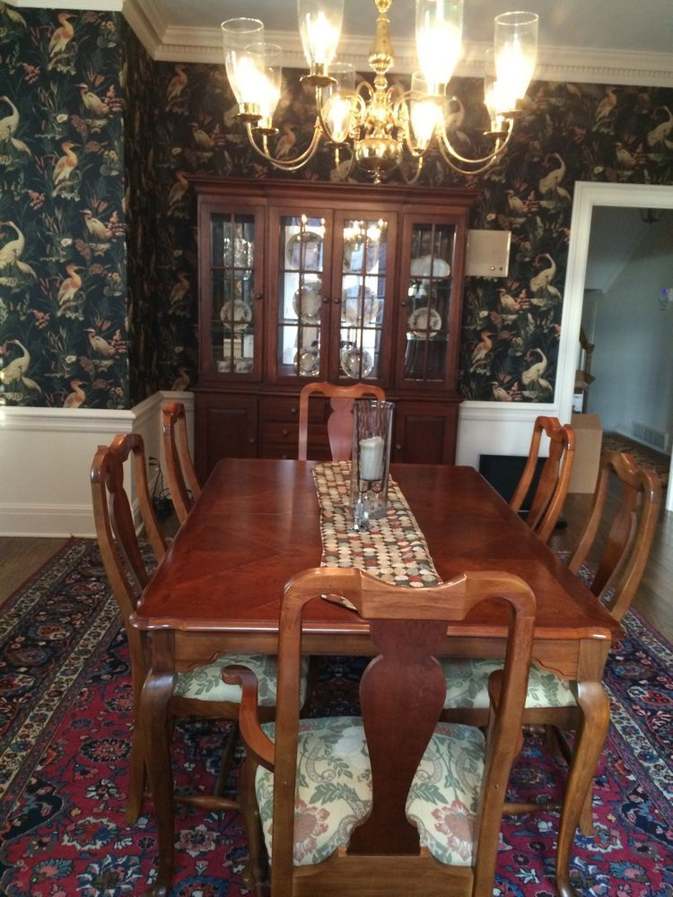 Dining Room Set Including China Cabinet Dining Table W 6 Chairs