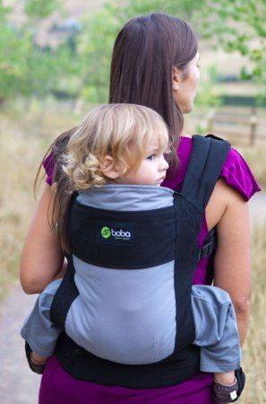 Amazon Boba Classic Baby Carrier 3g Glacier Front And Back