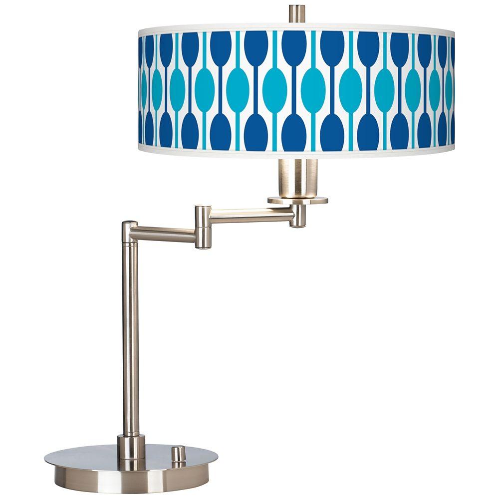 Jet Set Giclee CFL Swing Arm Desk Lamp - Style # 61495-2V471 ...